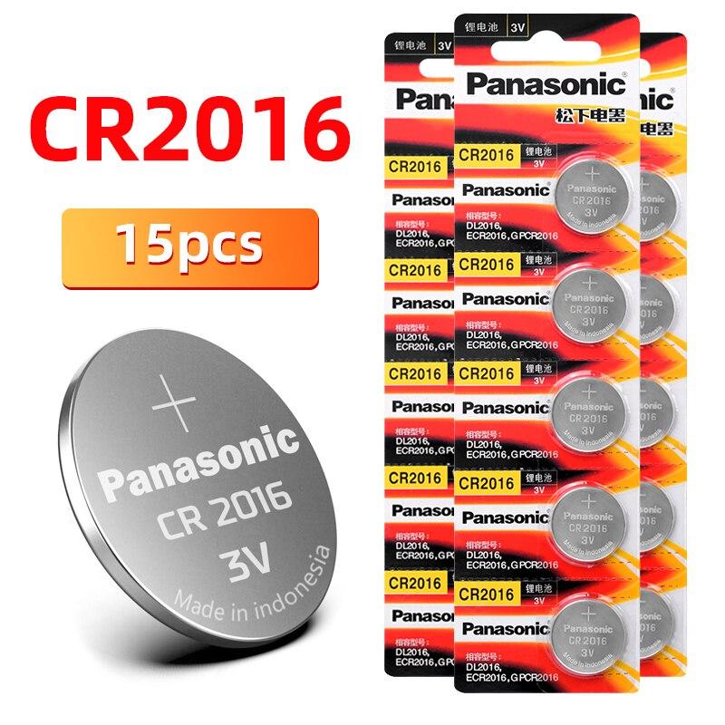 Cr2016 15 pièces PANASONIC BR2016 DL2016 LM2016 KCR2016 ECR2016 3V bouton batterie pièce lithium batterie pour montre jouet voiture