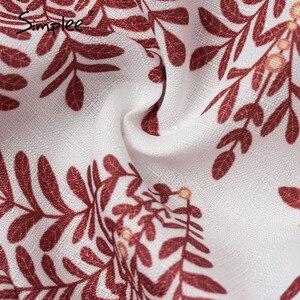 Image 5 - Simplee décontracté imprimé fleuri femmes mini jupe à lacets a ligne à volants femme jupes courtes printemps été dames vacances jupes 2020
