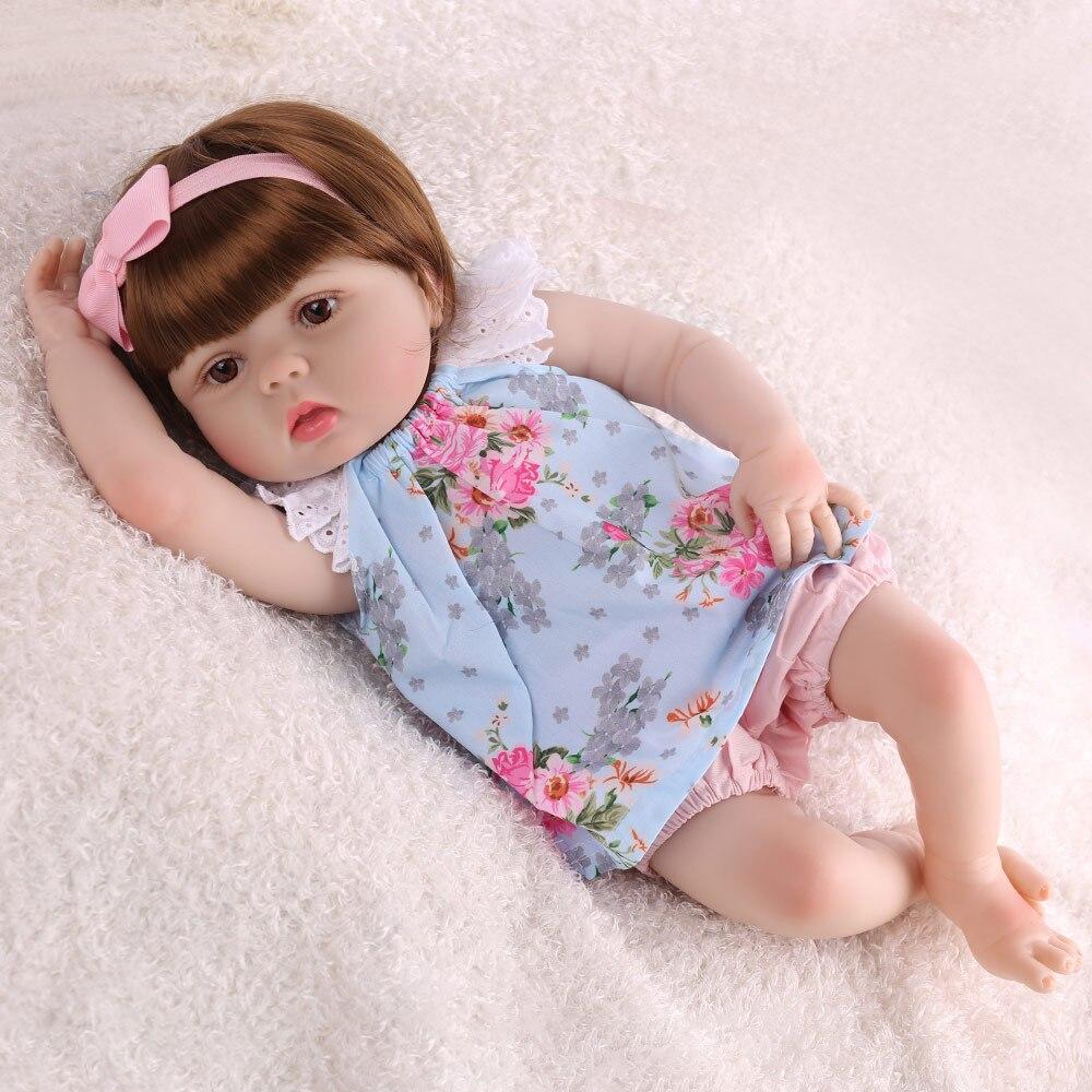 Silicone Reborn bébé poupées réaliste Bebe réaliste réaliste Menina enfant Boneca jouet lol Grils cadeau mignon enfant en bas âge 55cm