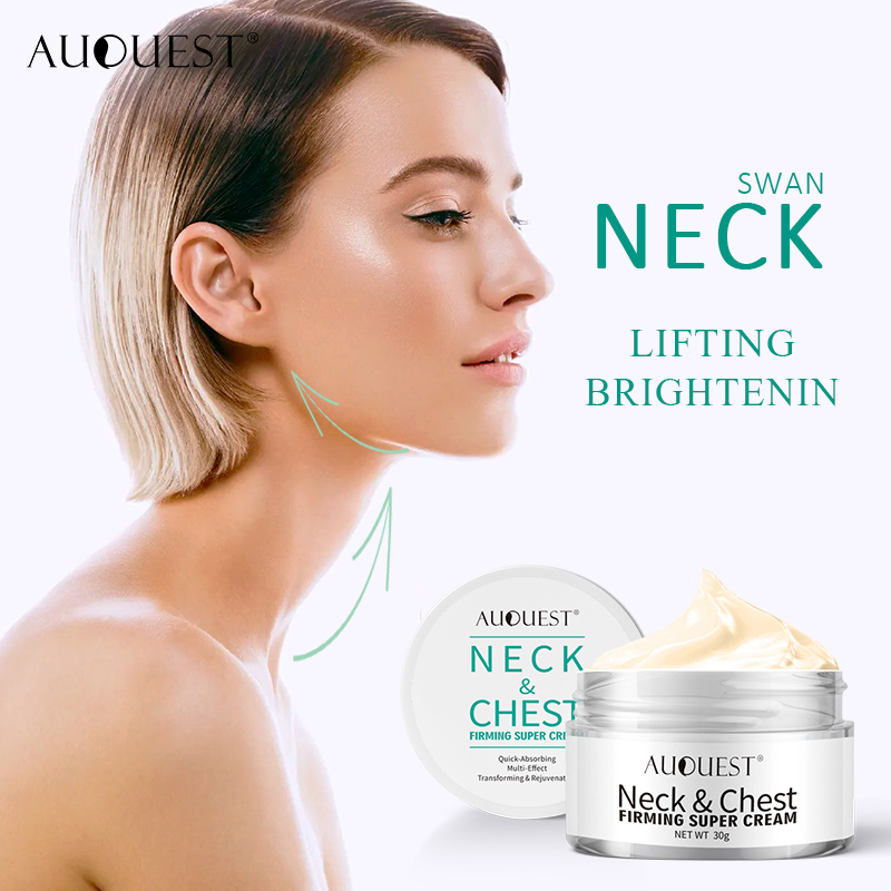 AuQuest Neck Chest Wrinkle Cream Repair Dry Crepe Skin Firming Cream Moisturizing & Lifting Skin Ageless Skin Care