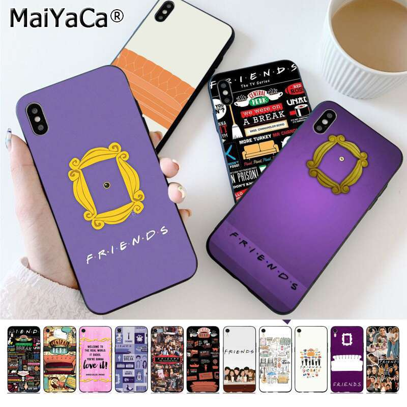 MaiYaCa friends series Purple door DIY Printing Drawing Phone Case cover for Apple iphone 11 pro 8 7 66S Plus X XS MAX 5S SE XR image