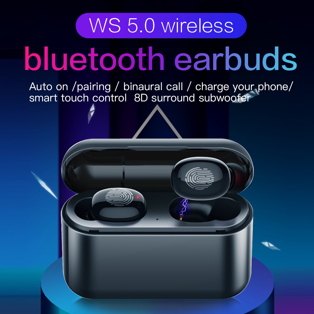 Touch TWS Bluetooth 5 0 Earphone Stereo Wireless Earbus HIFI Sound Sport Earphones Handsfree Gaming Headset with Mic for Phone in Phone Earphones Headphones from Consumer Electronics