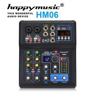 Image 2 - Professionelle Mixer HM Serie 6 Kanäle 8 Kanäle USB Soundkarte 16 DSP Sound Konsole Ausrüstung DJ Mixer USB Sound karte