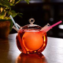 Duża pojemność kreatywny koktajl wódka Brandy whisky kubek dzielenie kubki przezroczyste podwójne rurki szklane osobowość Barware Club Cup