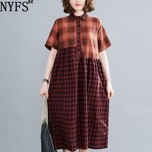 Nyfs 2020 новые женские платья винтажное свободное хлопковое