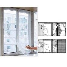 Занавес для окна двери s Fly экран сетка от насекомых комаров сетка экран занавес декор белый