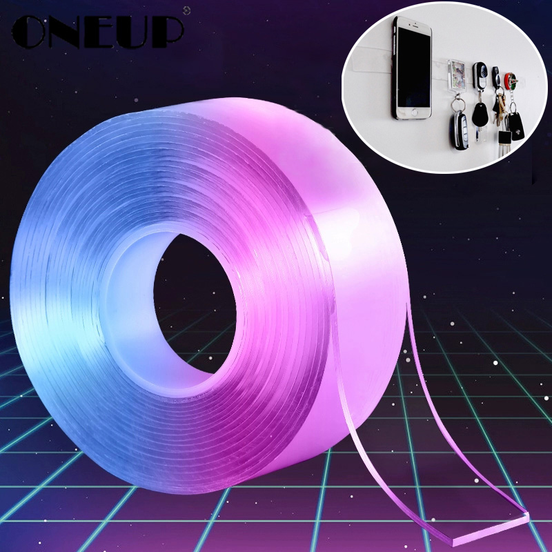 ONEUP Multifunctional Double-Sided Adhesive Nano Tape Traceless Washable Removable Tapes Toothbrush Holder Bathroom Accessories