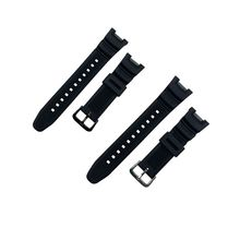 Replacement Silicone Watch Strap Stainless Steel Buckle Sport Breathable Wristband for C asio SGW-10