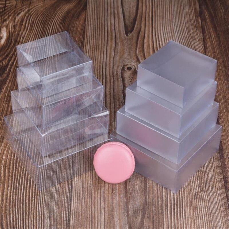 Boîtes en Pvc givré 50 pièces/lot, boîtes en plastique transparentes claires pour rangement bijoux, savon fait main, boîte cadeau fête de mariage pour emballage cadeau |