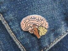 Cérebro cérebro Esmalte Macio Pin do Lapel, Acidente Vascular Cerebral, Médica e Anatomia, Pinos de Neurologia para Médicos e Enfermeiros