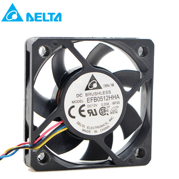For for delta EFB0512HHA 5cm 50X50X10mm fan DC 12V 0.20A 3-pin computer pc case Server Inverter Cooling fans axial cooler new original for adda ad0612hx a76gl dc 12v 0 23a 60x60x25mm 3 wire lead server inverter pc cpu case cooling fan