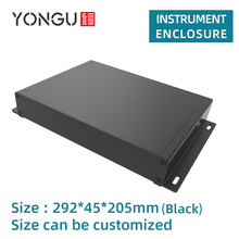 Wall Mount Panel Electronic Board Enclosure System PC Motherboard Project Box Electrical Enclosures Aluminum Case G02 292*45mm