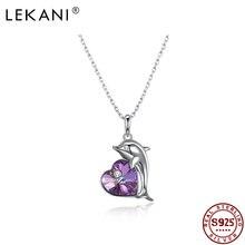 Lekani ожерелье из стерлингового серебра 925 пробы дельфин сердце