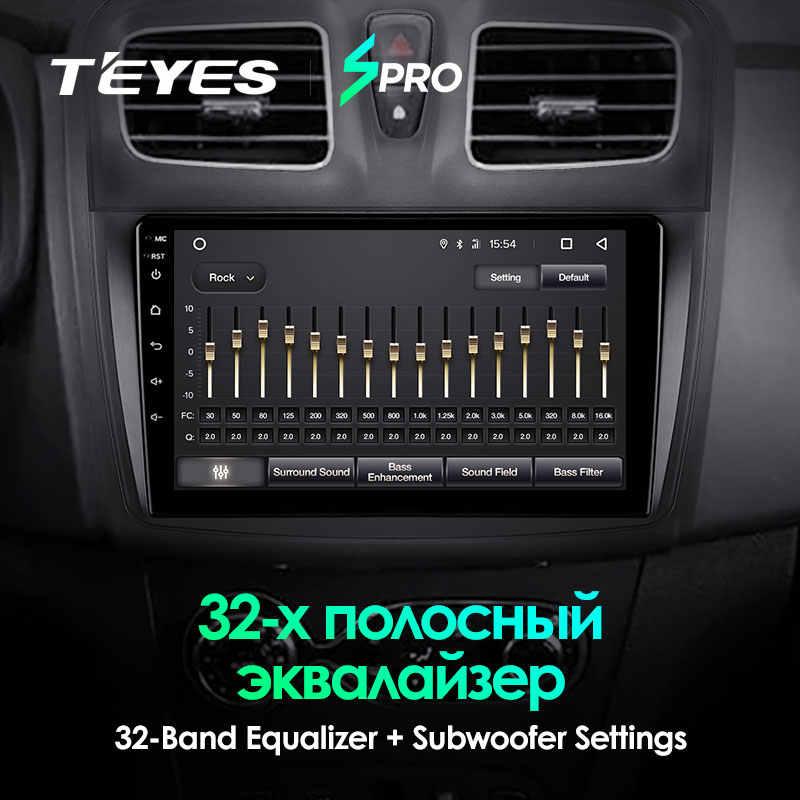 TEYES SPRO para Renault Logan 2 Sandero 2014 2019 símbolo auto Radio Multimedia reproductor de Video GPS de navegación Android 8,1 No 2din