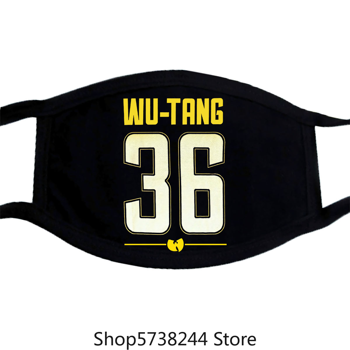 Wu Tang Clan Shirsey 36 Mesh Jersey Logo Black Mask New Official Merch Washable Reusable Mask With