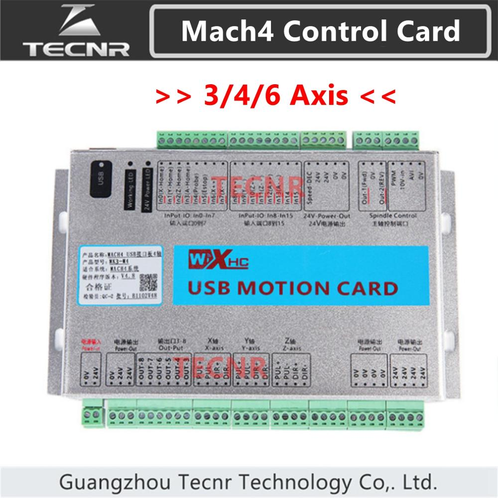 XHC Mach4 Motion Control Card CNC Breakout Board 2000KHZ 3 4 6 Axis USB Breakout Board For Cnc Engraving Cutting Machine