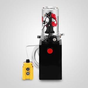 Image 2 - 6 Quart Single Acting Hydraulic ปั๊ม Dump Trailer 12V Lift Reservoir