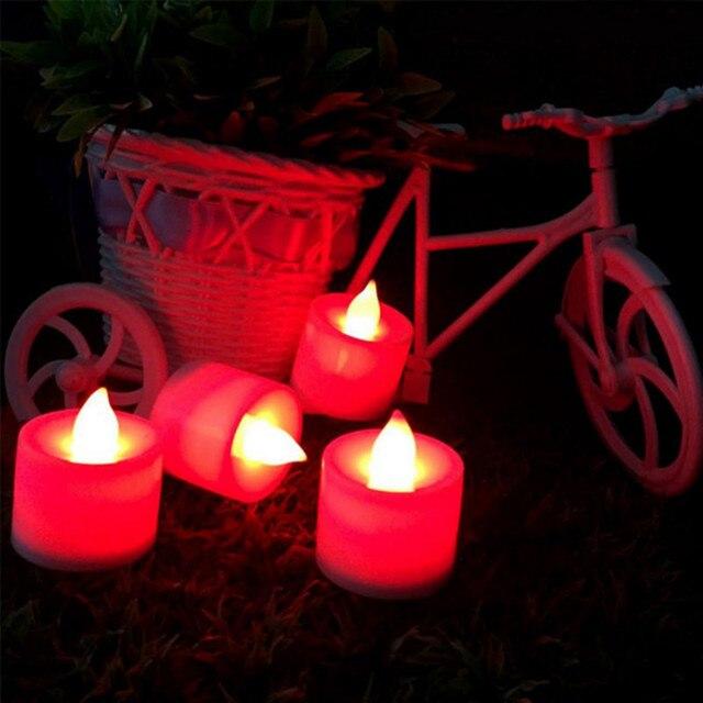 12 unidades/pacote cintilação flameless led chá luz cintilação chá vela luz para valentine party casamento candel seguro decoração de casa