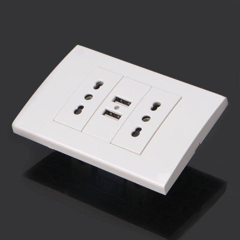 adaptador de tomada energia dupla portas usb painel 5v 1a 05