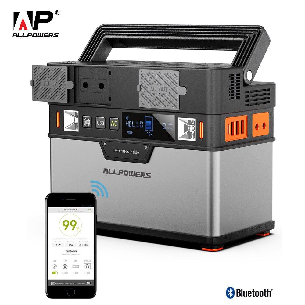 Allpuissances 110V ~ 230V batterie externe onde sinusoïdale Pure Portable générateur centrale électrique alimentation voiture réfrigérateur TV Drone téléphones portables.