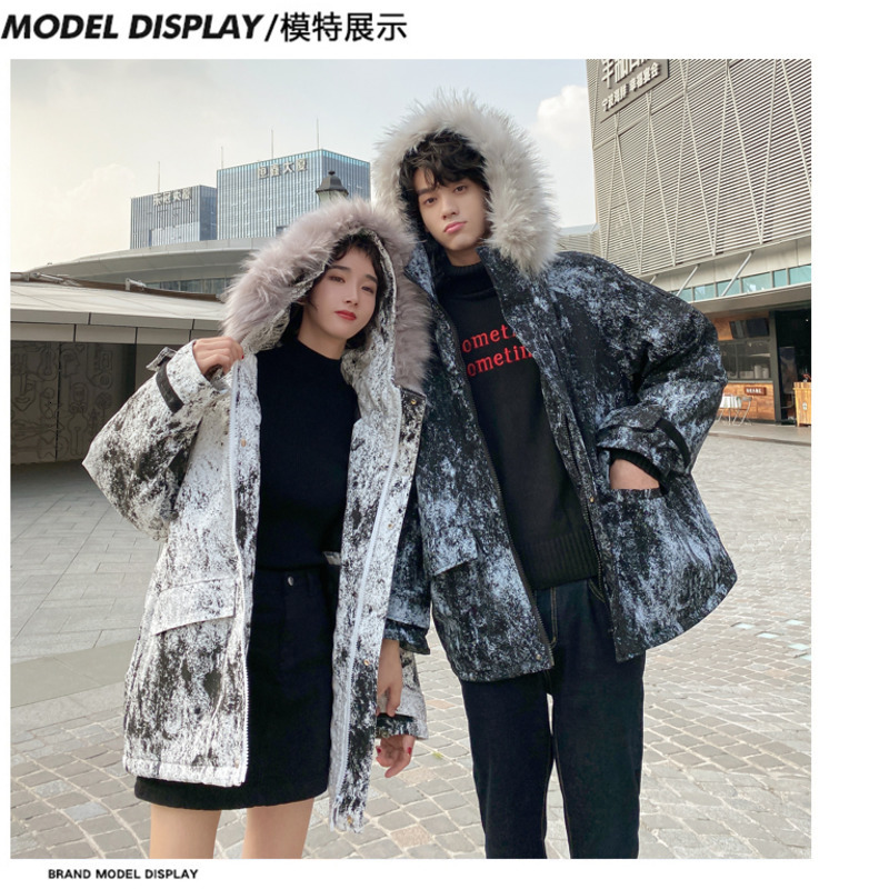 Men/'s Collar Thick Winter Hooded Coat Parka Camo Warm Down Cotton Jacket