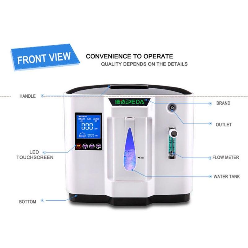 STT Tragbare Sauerstoff Konzentrator O2 Generatoren Luftreiniger Ventilator Schlaf MINI Sauerstoff Maschine Für Home