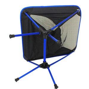 Image 4 - Chaise portative de maille dalliage daluminium de haute qualité pour la pêche Camping Sports de plein air chaises pliantes de Barbecue ultra léger