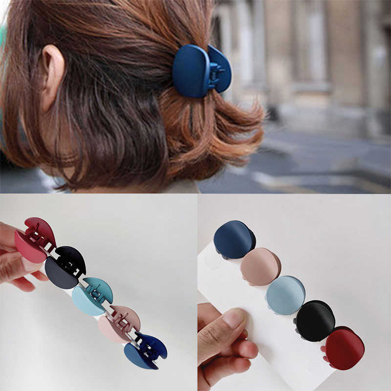 1PC Solid Warna Rambut Klip untuk Wanita Wanita Rambut Kepiting Kepala Cakar Korea Fashion Desain Retro Square Scrub Klip aksesoris Rambut