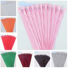 10pcs 3# closed nylon coil zipper (14 inches) 35CM tailor sewing process multi-color optional