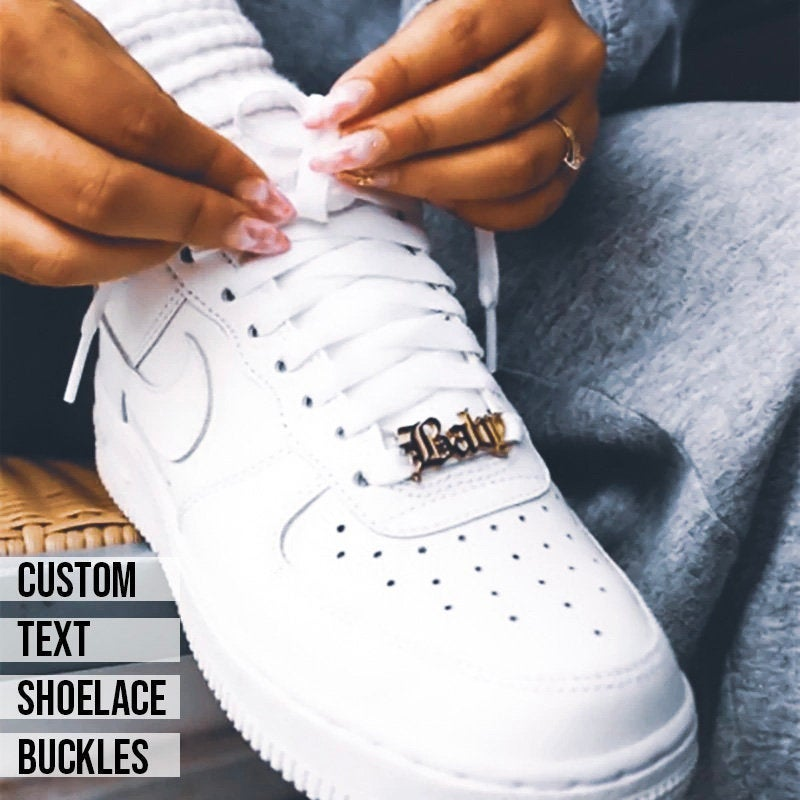 Personalized Text 2 Pieces / Pair Lace Buckle Metal Laces Laces Buckle Metal Accessories Lace Lock DIY Sneaker Kits Metal Lace B