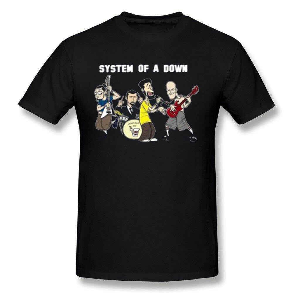 男性のシステムのダウン SOAD 漫画ロゴ黒 Tシャツホット販売 2019 ファッション