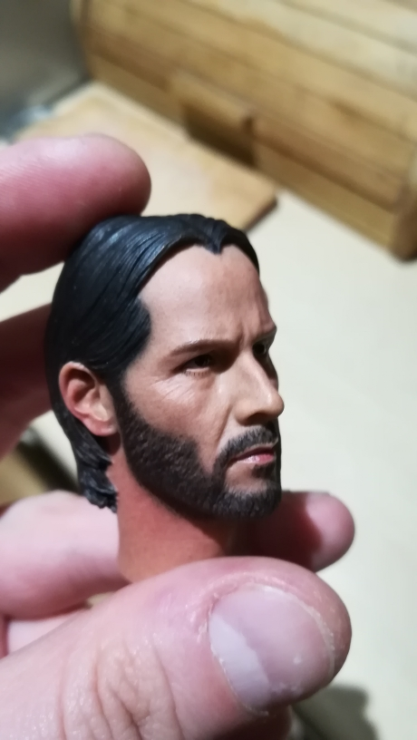 """1//6 Scale Keanu Reeves Head Sculpt John Wick for 12/"""" Action Figure"""