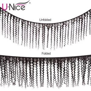 Image 2 - Волосы UNICE Малазийские Вьющиеся переплетенные человеческие волосы для наращивания 1/3/4 шт Remy Волосы пряди 100% натуральный цвет волосы для плетения 8 26 дюймов