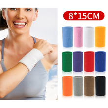 tcare reversible sports wrist brace thumb stabilizer adjustable wrist support wrap volleyball badminton basketball weightlifting 2PC Sports Wristband Sweatband Breathable Wrist Brace Support Wraps Gym Fitness Running Volleyball Basketball Wrist Protector