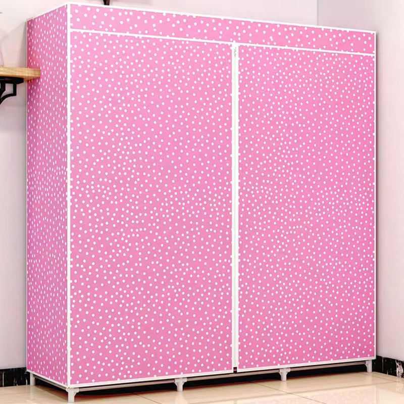 Wardrobe Cabinet Bedroom Portable DIY Fold Non-Woven Quarter Normal The When Delivery