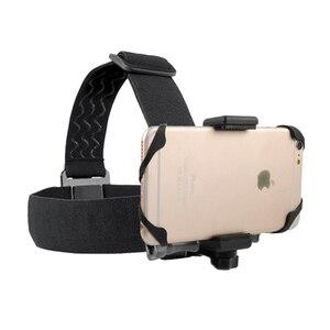 Image 2 - Support de bandeau extérieur pour téléphone portable au harnais sangle de ceinture support de trépied à la place GOPRO xiaoyi caméra iPhone x