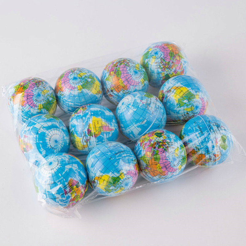 12Pcs/Set Soft Squishy Toy Earth World Map Toys For Children Slow Rising Stress Relief Antistress Novelty Gag Toy Kid Funny Gift 1