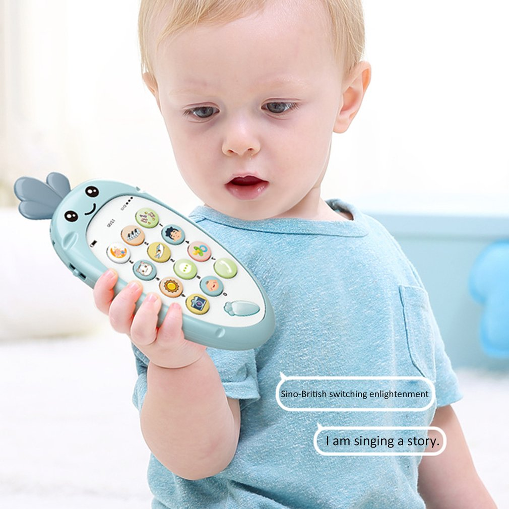 Kids Mobile Phone Toy Multi-function Simulation  Early Childhood Puzzle Educational Touch Screen Music Phone Toy