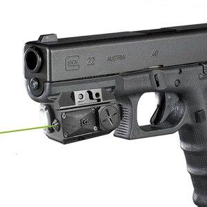 Laserspeed тактический светильник для пистолета Glock и Зеленый Лазерный комбинированный лазерный прицел страйкбол пистолет-светильник с индикат...