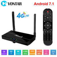 X88 4G Lte Smart TV BOX Android 7.1 TV Box support 4G Nano SIM CARD 2GB 16GB Rockchip RK3328 Support Dual Wifi 4K 60fps USB3.0