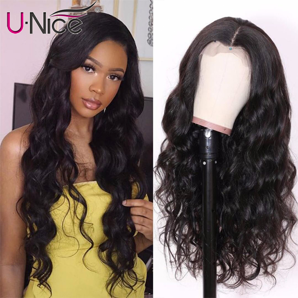 Ha00433ac876b4bcabb7091317b32f2945 UNice Hair 13X4/6 Transparent Lace Wigs With Baby Hair Body Wave Invisible Lace Front Human Hair Wigs Pre-Plucked Lace Wigs
