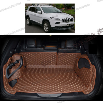 цена на lsrtw2017 for jeep cherokee JL leather car trunk mats cargo liner 2014 2015 2016 2017 2018 2019 2020 interior accessories rear