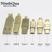 1/2/5pcs Gold plated Type C USB A USB B Mini USB Micro Connector Jack Tail Socket Connector Port Sockect For HiFi Audio Adapter