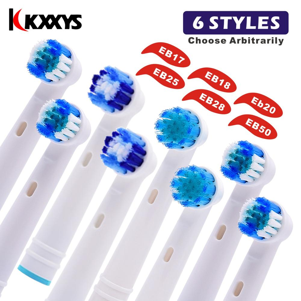6/8/14pcs EB25A Replacement Electric Toothbrush Heads Universal For Oral B Advance Power/Pro Health/Vitality Precision Clean image