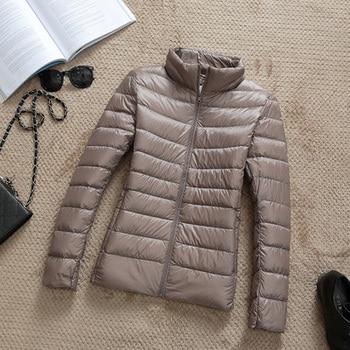 New Brand 90% White Duck Down Jacket Women Autumn Winter Warm Coat Lady Ultralight Duck Down Jacket Female Windproof Parka 8