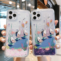 Nette Conch Shell Glitter TPU + PC Phone Cases für iPhone 12 Pro Xs Max Xr X 6 7 8 plus SE 2020 Dynamische Flüssigkeit Quicksand Abdeckung Fall
