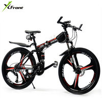 New X Front brand 26 inch wheel 21/24/27 speed carbon steel frame mountain bike outdoor downhill folding bicicleta MTB bicycle