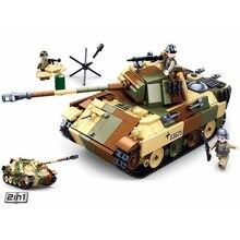 Sluban ww2 alemão militar pantera g tanque médio modelo blocos de construção segunda guerra mundial exército soldado tijolos clássico modelo brinquedos meninos