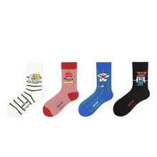 Funny Socks Autumn and Winter Models College Style Casual Fashion Classic Cartoon Personality Creative Tide