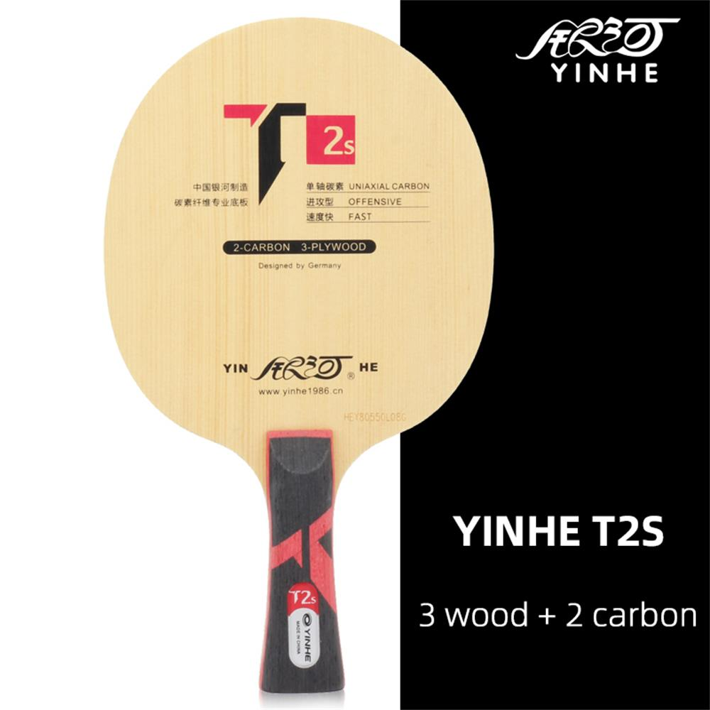 Genuine Yinhe Galaxy T-2S Table Tennis Blade (T2s,3wood + 2 Carbokev) Ping Pong Racket Base Raquete De Ping Pong